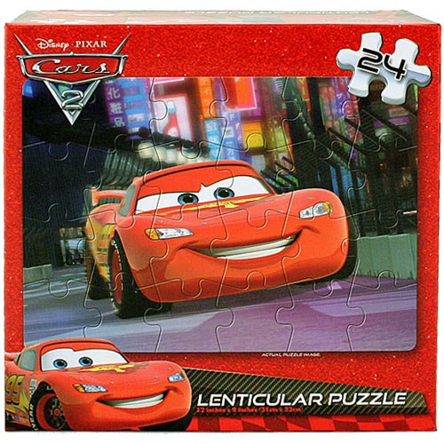 Disney Pixar Cars 2 Lenticular Puzzle [24 Pieces - Lightning McQueen] disney пожарная машина red disney cars