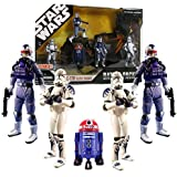 Star Wars 30th Anniversary Battle Pack ARC 170 ELITE SQUAD with 5 Action Figures Exclusive Purple R2 Astromech Droid R4-C7