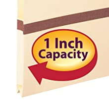 Smead Pocket, Letter, 2/5 Cut Tab, 1-Inch Expansion, Manila, 50 per Box (75487)