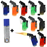 Jet Flame Torch lighter Mini 10 Pack Blow torch refillable Lighters By Eagle With Free Butane refuel