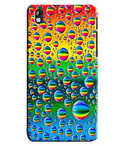 Blue Throat Bubble Made Of Colored Hard Plastic Printed Back Cover/Case For HTC Desire 816