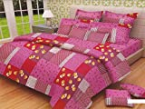 "Lali prints Small Flower print Super King Size 108 X 108"" 1 double bedsheet and 2 pillow covers"
