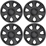 BDK Matte Black Hubcaps Wheel Covers for Toyota Camry 15
