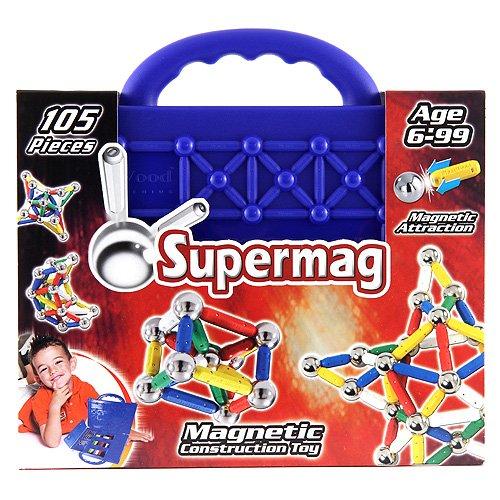 Supermag - 0558 - Jeu de Construction -  Magnétique - Classic Valise - 105 pièces