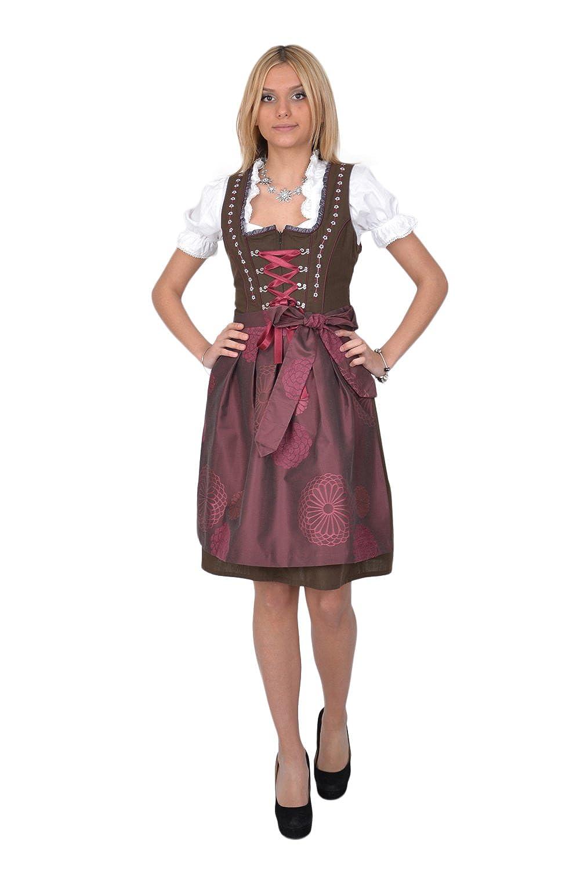 Dirndl Trachtenkleid 3tl. Braun günstig online kaufen