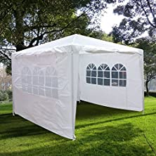 buy Quictent® 10'X10'Heavy Duty Outdoor Canopy Party Wedding Tent Gazebo Pavilion 2 Window Side Walls + 2 Zippered Walls