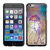 LECELL Protective Case Cover Skin For Apple iPhone 6 ¡ï Happy Rain Window Painting ¡ï