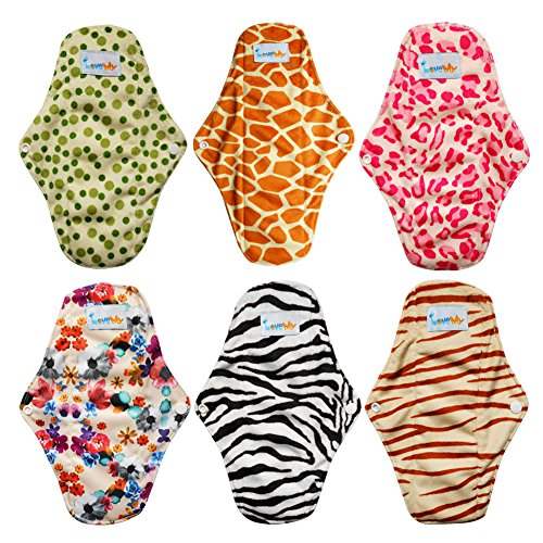 Love My Antibacterial Bamboo fiber Mama Cloth/ Menstrual Pads/ Reusable/ Panty Liners - 6pcs pack(LM1) (Mama Cloth Pads compare prices)