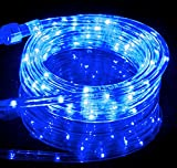10.6FT Blue LED Flexible Rope Light Kit For Indoor / Outdoor Lighting, Home, Garden, Patio, Shop Windows, Christmas, New Year, Wedding, Party, Event