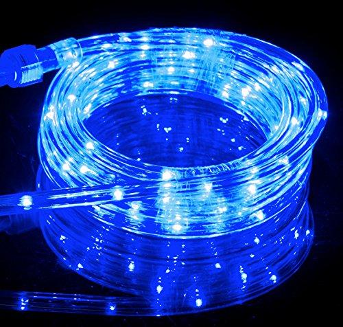 10 6ft blue led flexible rope light kit for indoor outdoor lighting home garden patio shop. Black Bedroom Furniture Sets. Home Design Ideas