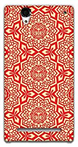 The Racoon Grip RED Tribal hard plastic printed back case / cover for Sony Xperia T2 Ultra