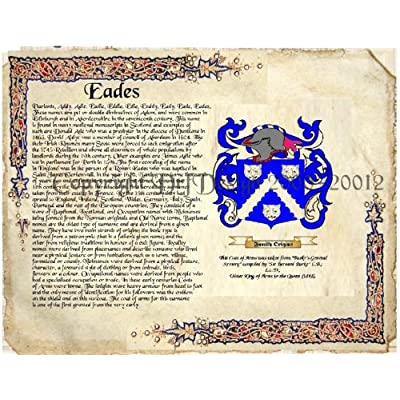 Amazon.com: Eades Coat of Arms/ Family Crest on Fine Paper and Family
