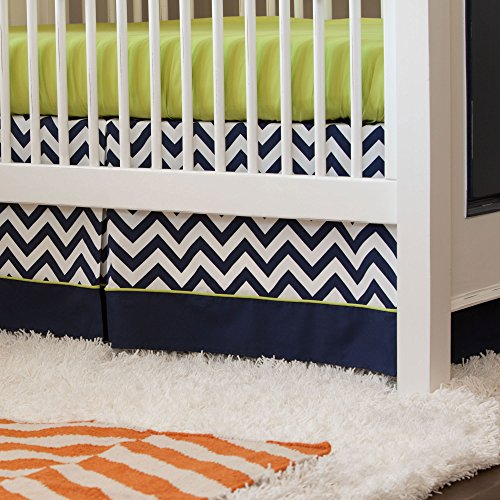 Navy And White Crib Bedding 8389 front