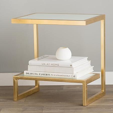 SFBZ Pequeña mesa de la tabla lateral Moderno Moderno Soporte de exhibición creativo Sofá Pequeño Mesa de centro Estanterías Estantería de la revista mesas auxiliares