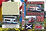 2909. Commonwealth Games Glasgow. Scotland. Buses. August 2014. Bridgeton bus depot and then the evening Shuttles at Hampden Park venue all in rain