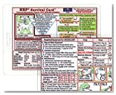 NRP (Neonatal Resuscitation Program) Survival Card-(Small 3x4 3/8 in.) - Laminated with hole punched