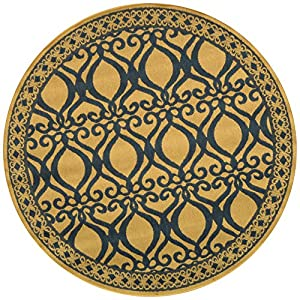 Safavieh Courtyard Collection CY3040-3101 Natural and Olive Indoor/Outdoor   Area Rug, 5-Feet 3-Inch