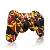 dainslef PS3 controller Wireless Bluetooth Double Shock Sixaxis Remote Gamepad for Sony PS3 PlayStation (Flame) (Color: Flame)