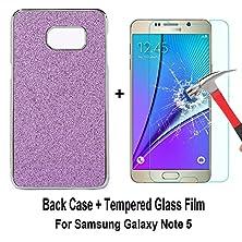 buy Galaxy Note 5 Case, Sophia Shop Thin Ultra Slim Premium Pu Leather+Hard Pc Bumper Anti-Scratch Shockproof Cover For Samsung Galaxy Note 5 (Glitter Purple+Film)