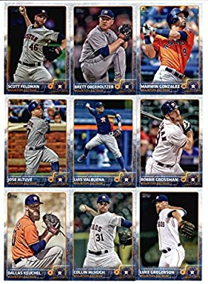 2015 Topps Baseball Cards Houston Astros Team Set (Series 1 & 2 - 25 Cards) Including Nick Tropeano, Tony Sipp, Jason Castro, Matt Dominguez, Mike Foltynewicz, Jesus Guzman, Chris Carter, Alex Presley, George Springer, Dexter Fowler