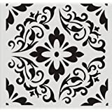 12 x 12 Inch Large Size Reusable Stencil Laser Cut Painting Template Floor Wall Tile Fabric Furniture Stencils Painting Stencils (Color: A3, Tamaño: 2PC)
