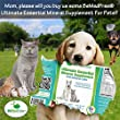 Ultimate Essential Mineral Supplement For Dogs, Cats & Other Small Pets Helps Them Stay Healthy - Mega Nutritional Formula Made From Plant Sources Contains 70 Of The Essential 94 Naturally-Occurring Trace Minerals & Elements - Super Easy To Administer In
