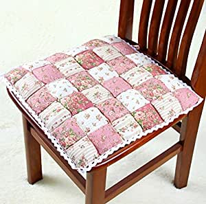 Pink 40 40 Floral Kitchen Dining Chair Cushions Seat Pad Zakka