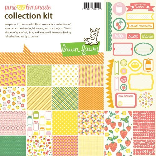 Lawn Fawn Pink Lemonade Scrapbook Collection Kit