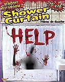 Forum Novelties Bloody Bathroom Shower Curtain, Red