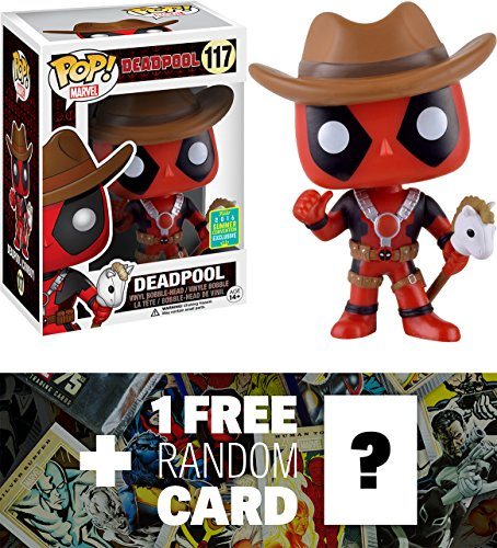 Deadpool - Cowboy (2016 Summer Exclusive): Funko POP! x Marvel Universe Vinyl Bobble-Head Figure + 1 FREE Official Marvel Trading Card Bundle (074937) (Marvel Universe Rogue compare prices)