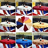 Sellify Blue : 2017 Hot 1M Round Tablecloth Cover Elegant Chic Flower Pattern Wedding Banquet 10 Colors
