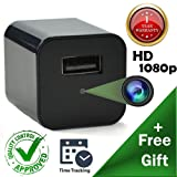 Hidden Spy Camera [Newest model] Smart Mini Spy Charger With Motion Detection and Loop Recording - Storage up to 32gb - By Vicksa