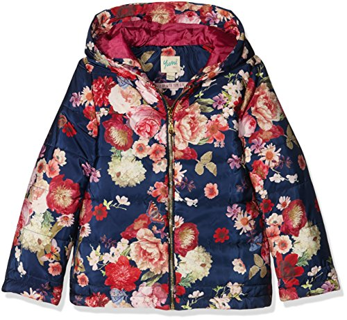 Yumi Oil Painted Floral Puffa, Giubbotto Bambina, Blu (Navy), 14 Anni