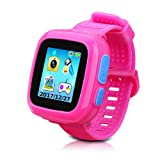 Kids Smartwatch,Smart Watch with Games,Girls Boys Smart Watches with Digital Camera Children's Smart Wrist Kids Gifts Learning Toys (Color: pink)