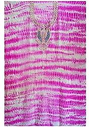 Purple Color Gotta Patti Necklace Work Kurti Dress Material