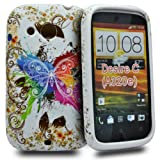 Accessory Master Case for HTC Desire C Silicone Fancy Butterfly Flowers Design