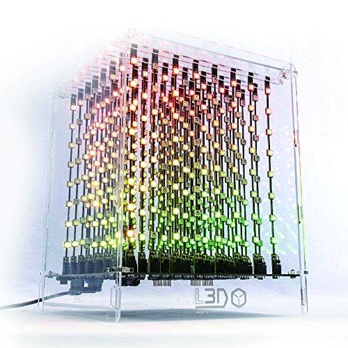 L3D Cube MK-Ⅲ 日本仕様:3次元512個のフルカラーLEDを搭載、プログラマブルな照明 音楽にも反応