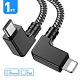 Obeka Compatible 1FT 90 Degree Micro USB to iOS Phone Tablet OTG Data Cable Right Angle Connector Cord DJI Spark, Mavic Pro, Platinum, Air, 2 Pro, Zoom Remote Controller Accessories (1 Pack) (Color: 1 Pack, Tamaño: 1 Feet)