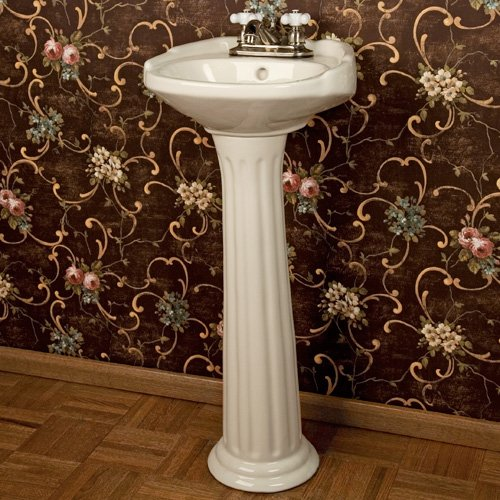 Pedestal Ultra Petite Victorian Pedestal Sink 4 Centers Biscuit