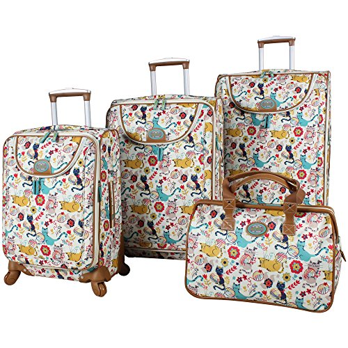 lily-bloom-furry-friends-4-piece-luggage-set