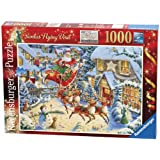 Ravensburger 2010 Christmas Puzzle Santa's Flying Visit Puzzle (1000-Piece)by Ravensburger