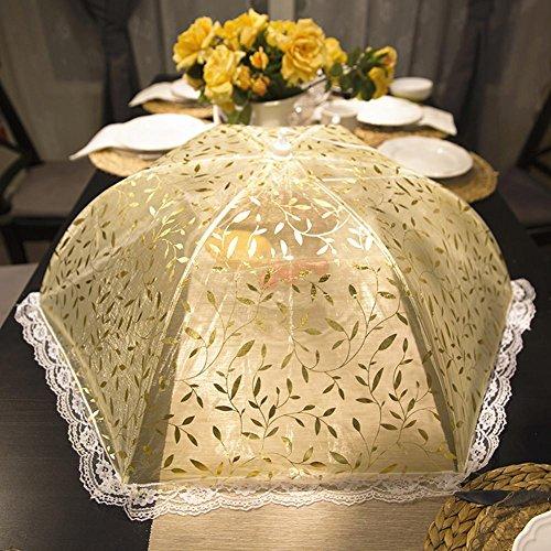 Oro circolare pieghevole foglia foglia senape pizzo cofano , picture color