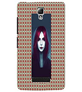 PrintDhaba Crying Girl D-5076 Back Case Cover for LENOVO A2010 (Multi-Coloured)