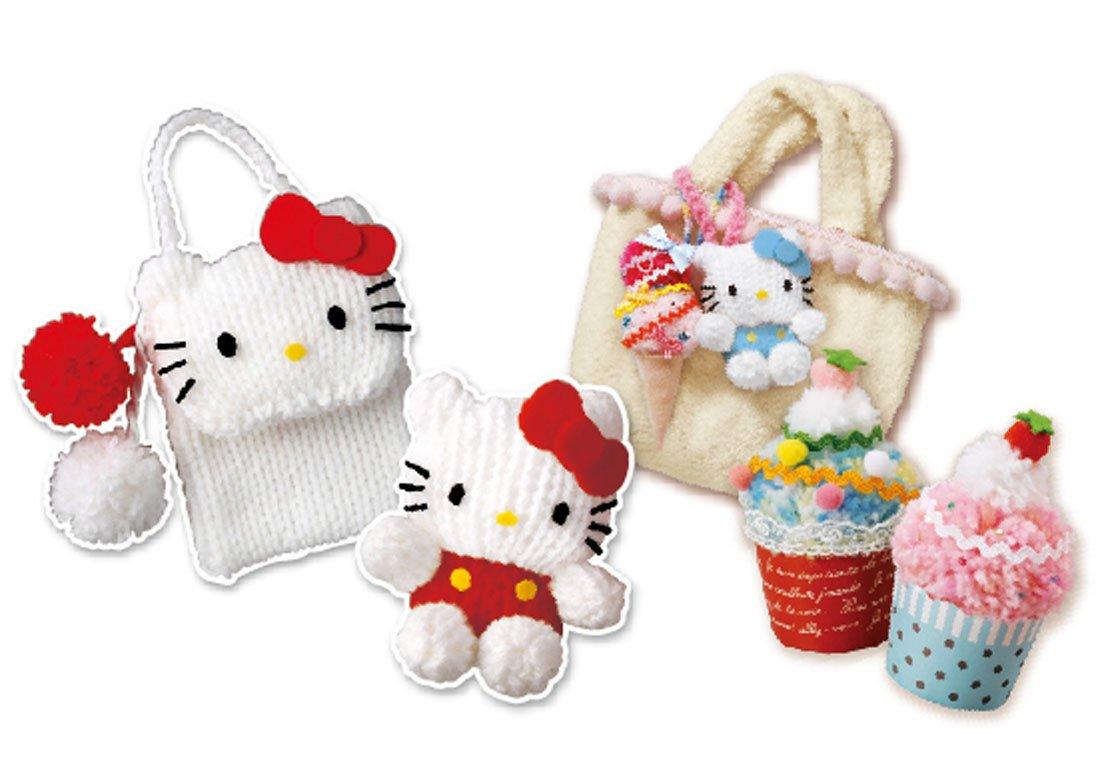 New Takara Tomy Hello Kitty Kids Knitting Machine Pompon ...