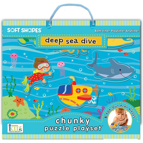 Innovative Kids Soft Shapes Chunky Puzzle Deep Sea Dive Playset - 1