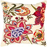 Rizzy Home T-4367 Decorative Pillows, 18 by 18-Inch, Yellow/Orange, Set of 2