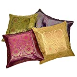 Ufc Mart Colrful Jacquard Fabric Cushion Cover 5pc. Set, Color: Multi-Color, #Ufc00458