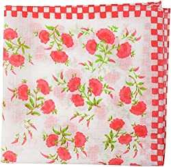 hanky ladies 4 colour(12pc pack) ladies Handkerchief (SWRG031, Red,Sarawagi Entreprise 12 x 15 Inch)
