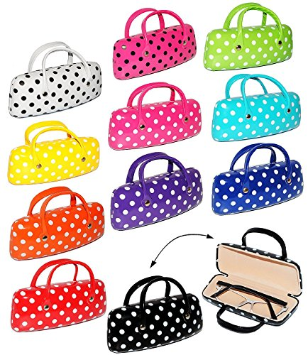 2-in-1--Brillenetui-kleine-Tasche-fr-Utensilien-bunte-Farben-mit-Punkten-Hardcase-Hartschale-extrem-stabil-Etui-fr-Brille-oder-andere-Kleinigkeiten-fr-Kinder-Erwachsene-Hartschalenetui-Metallverschlu-