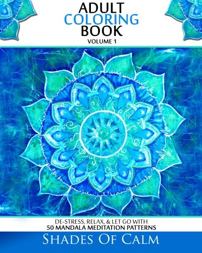 Adult coloring book de stress relax let go with 50 for Garden 50 designs to help you de stress colouring for mindfulness